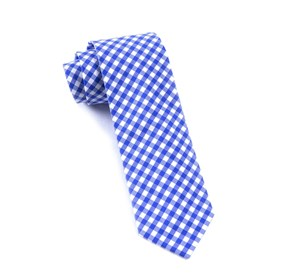 New Gingham Royal Blue Ties