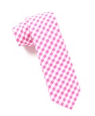 Ties - New Gingham - Hot Pink