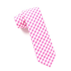 new gingham hot pink ties