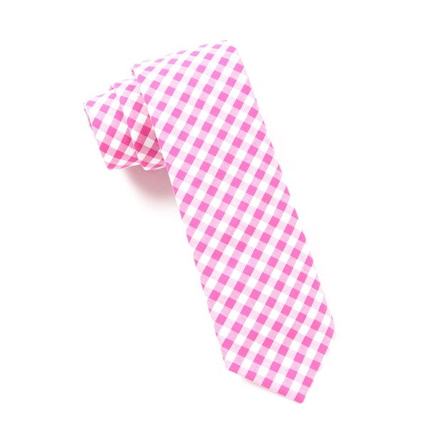 Hot Pink New Gingham Tie