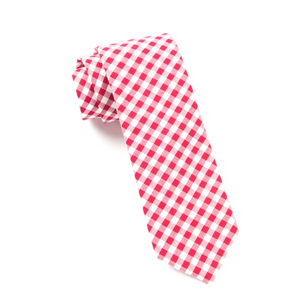 Red New Gingham Tie