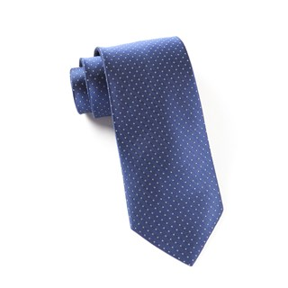 mini dots blue ties