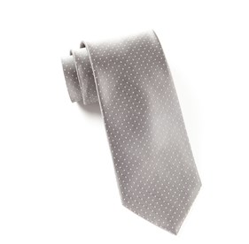 Silver Mini Dots ties