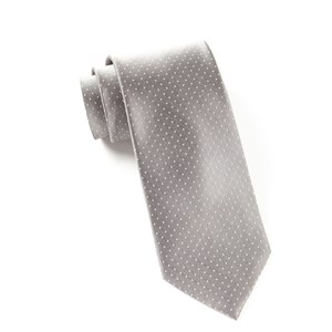 mini dots silver ties
