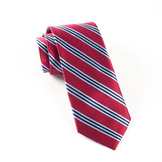 Bar Stripes Classic Red Tie