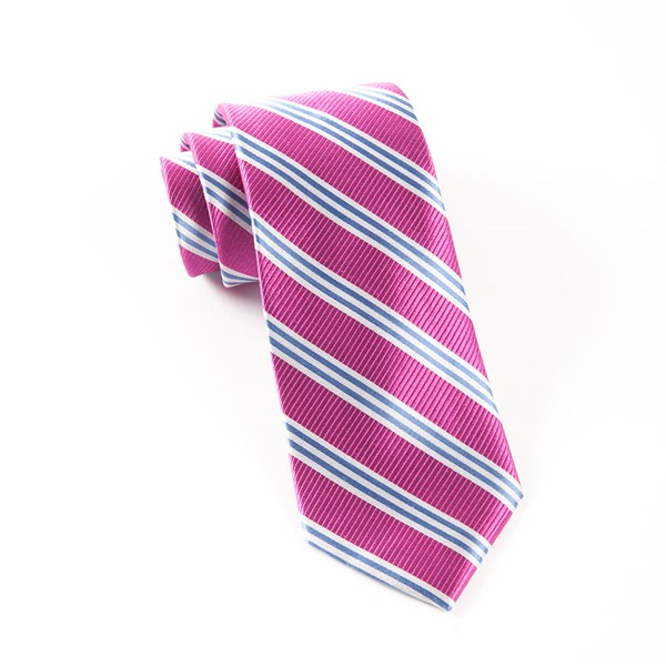 Rose Bar Stripes Tie