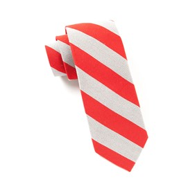 Red College Stripe Wool ties