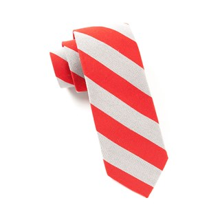 College Stripe Wool Red Tie