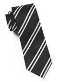 Ties - Double Stripe - Black