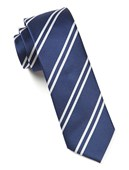 Ties - Double Stripe - Navy