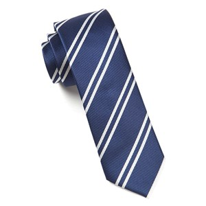 double stripe navy ties