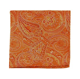 21st Century Paisley Pumpkin pocket square