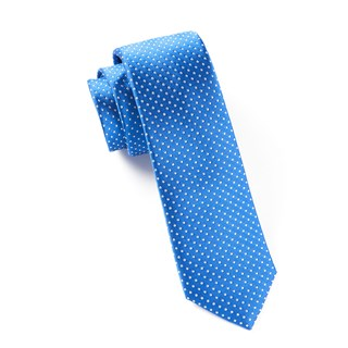 pindot royal blue ties