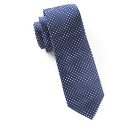 Pindot Navy Ties