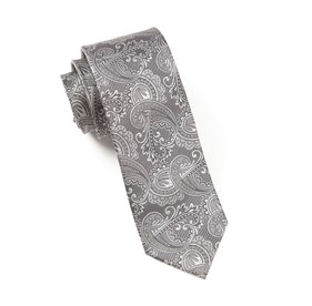 Charcoal Twill Paisley ties