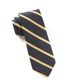 Ties - Trad Stripe - Midnight Navy
