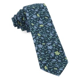 Green Teal Southey Floral ties