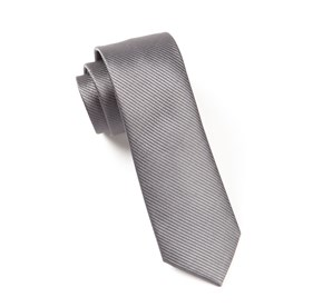 Skinny Solid Charcoal Ties