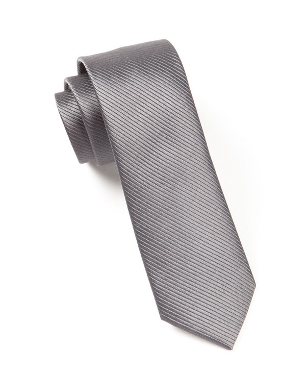 Skinny Solid Charcoal Tie