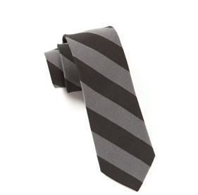 Black College Stripe Wool ties