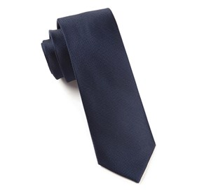 Solid Texture Midnight Navy Ties