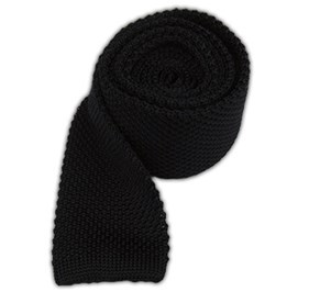 Knitted Black Ties