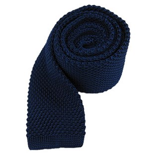 knitted blue ties