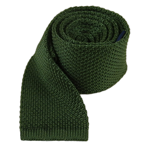 knitted hunter green ties