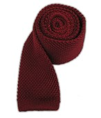 Ties - Knitted - Red