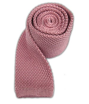 Baby Pink Knitted Tie