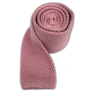 knitted baby pink ties