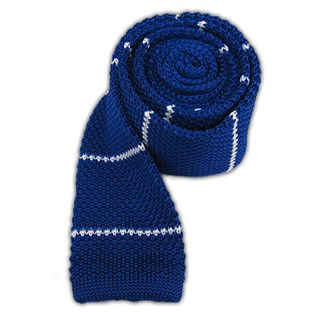 Knit Stripe Royal Tie