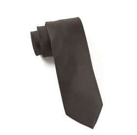 Solid Texture Black Ties