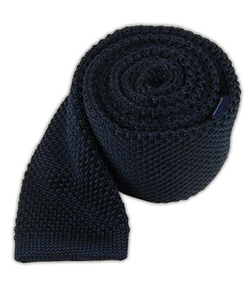 Midnight Navy Knitted Tie Ties Bow Ties And Pocket Squares The