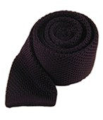 Ties - Knitted - Eggplant