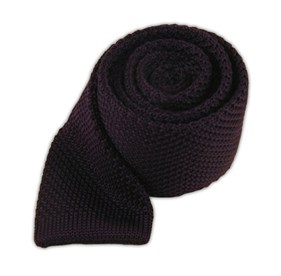Knitted Eggplant Ties