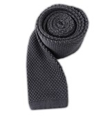 Ties - Knitted - Grey