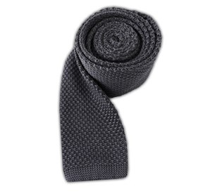 Knitted Grey Ties