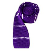 Ties - Knit Stripe (FS) - Plum