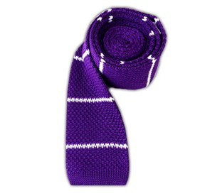 Plum Knit Stripe ties