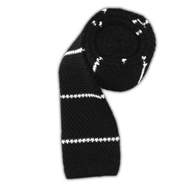Classic Black Knit Stripe ties