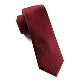 Burgundy Solid Texture boys ties