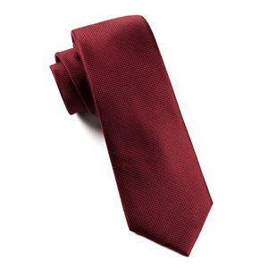solid texture burgundy boys ties