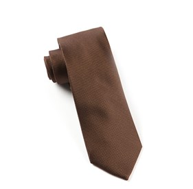 Solid Texture Chocolate Brown Ties