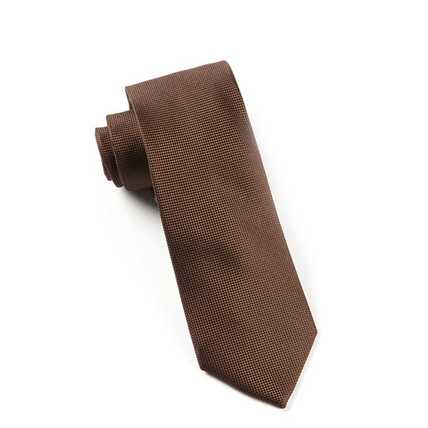 Chocolate Brown Solid Texture Tie