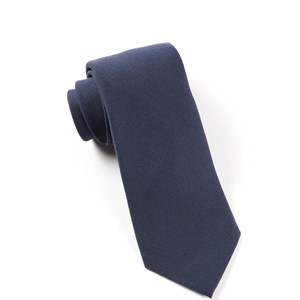 solid wool navy ties