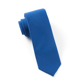 solid wool royal blue ties