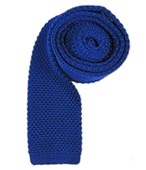Ties - Knitted - Royal Blue