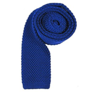 knitted royal blue ties