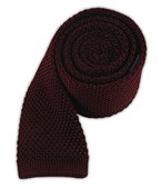 Ties - Knitted - Wine